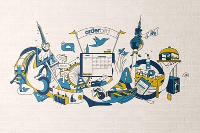 Illustration Wandbild Orderbird