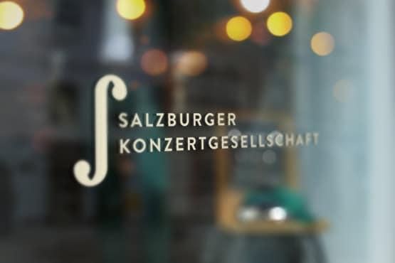 Salzburger Konzertgesellschaft Beklebung