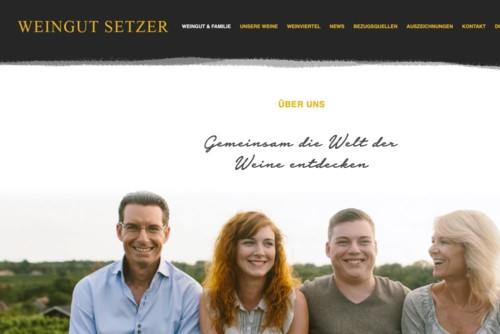 Weingut Setzer Webseite Startseite