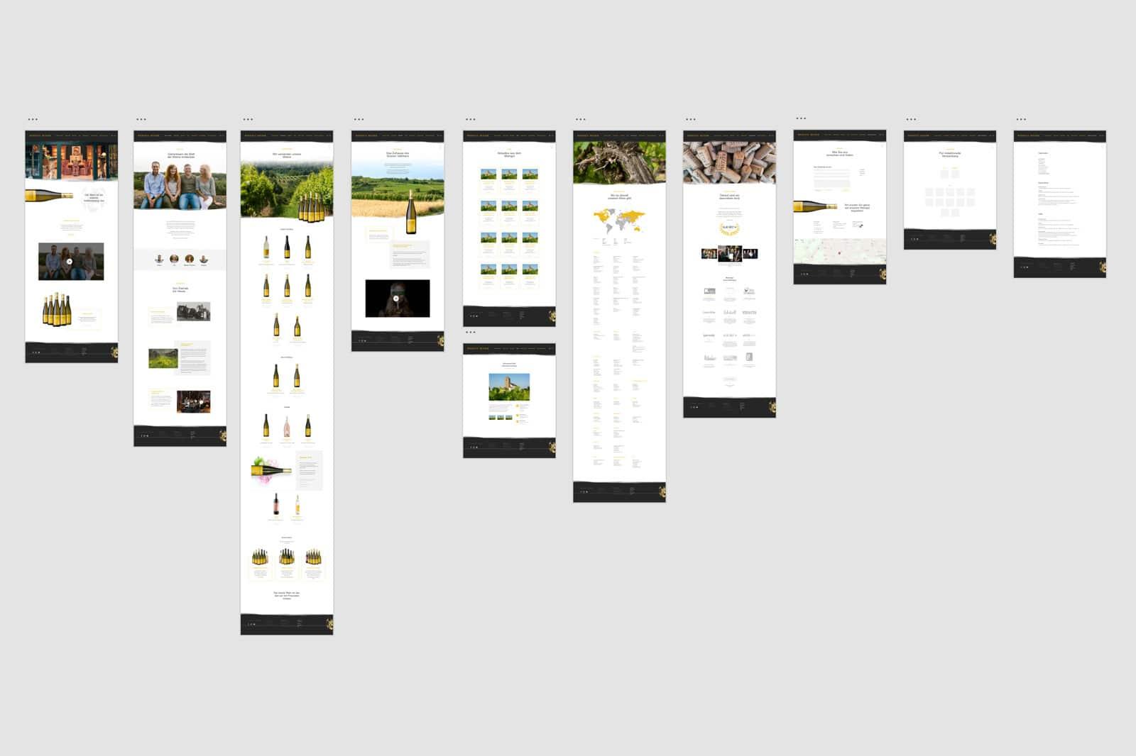 Weingut Setzer Webseite Screendesign