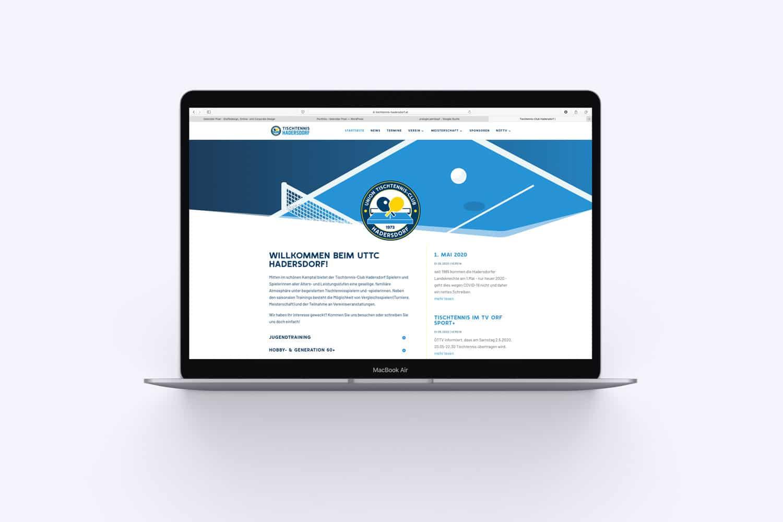 Tischtennis Hadersdorf Webseite