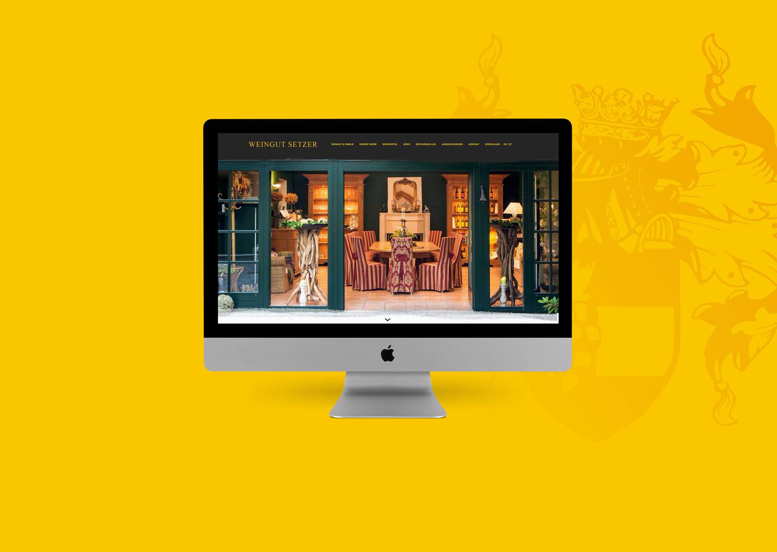 Weingut Setzer Webdesign MockUp